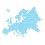 Europa gjorde av prickar Royaltyfri Foto