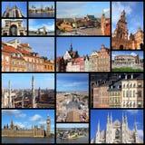Europa gränsmärken arkivbilder