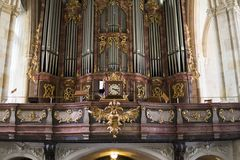 europa Graz Áustria setembro de 2018 Vista interior da catedral de St Catherine em Graz fotos de stock royalty free