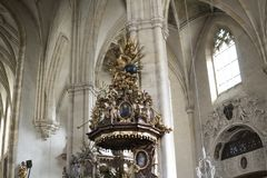 europa Graz Áustria Vista interior da catedral de St Catherine em Graz imagens de stock