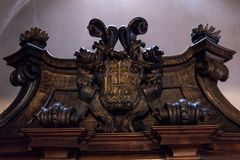 Europa Graz _ Inre sikt av domkyrkan av St Catherine i Graz arkivfoton