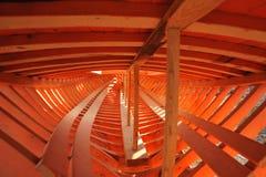 Europa, Grecia, Halkidiki, costruzione Barca in legno, Immagine Stock Libera da Diritti