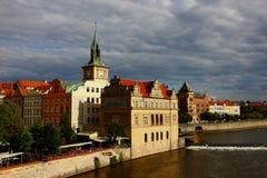 Europa-Grenzstein, Prag 2011, Tschechische Republik lizenzfreies stockbild