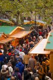 Europa, het Verenigd Koninkrijk, Engeland, Lancashire, Manchester, Albert Square, Kerstmismarkt Royalty-vrije Stock Fotografie