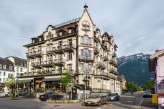 Europa hotel, Interlaken, Szwajcaria zdjęcia stock