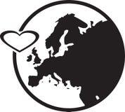 Europa i hjärta Arkivfoto
