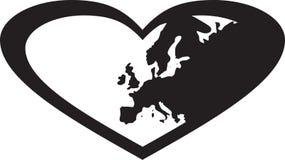 Europa i hjärta Royaltyfria Bilder
