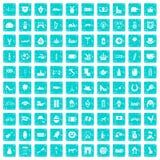 100 Europa-Ikonen stellten Schmutz blau ein Stockfotografie