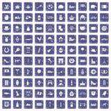 100 Europa-Ikonen stellten Schmutzsaphir ein Lizenzfreie Stockfotografie