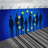 Europa invandring royaltyfri illustrationer