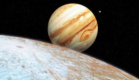 Europa io moon jupiter Royalty Free Stock Images