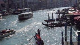europa Italy Veneza Vista panorâmica do canal grande da ponte em um dia de verão ensolarado filme