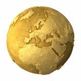 Europa jordklotguld Arkivbild