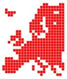 Europa-Karte Lizenzfreie Stockfotos
