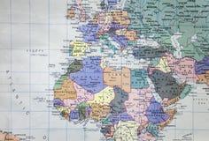 Europa-Karte Lizenzfreies Stockfoto