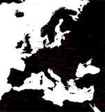 Europa-Karte Stockbilder