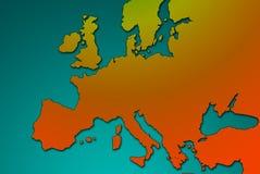 Europa-Karte stockfotos