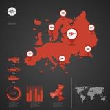 europa Karte der Welt Lizenzfreie Stockfotografie