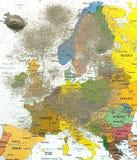 Europa-Karte mit Vulkanstaub 2 Lizenzfreie Stockfotografie