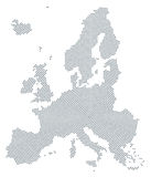 Europa-Kartenradialpunktmuster-Graufarbe Lizenzfreies Stockbild
