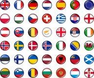 Europa-Knopf-Satz Stockbilder