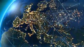 Europa kommunikationer vektor illustrationer