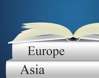 Europa książki Wskazują podróż azjata I przewdonika ilustracji