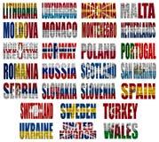 Europa länder sjunker uttrycker del 2 Arkivfoto