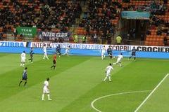 Europa League Inter vs Neftchi Baku 2-2. Europa League soccer match Inter vs Neftchi Baku 2 - 2. At the San Siro Meazza Stadium in Milano on Dec 6, 2012. Action Stock Images