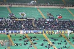 Europa League Inter vs Neftchi Baku 2-2. Europa League soccer match Inter vs Neftchi Baku 2 - 2. At the San Siro Meazza Stadium in Milano on Dec 6, 2012. Inter Stock Photo