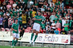 Europa league match: Cork City FC vs FC Progres Niederkorn stock photo