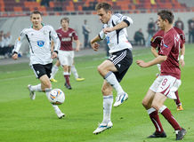 EUROPA LEAGUE: RAPID BUCHAREST-LEGIA WARSAW Royalty Free Stock Images