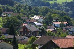 Europa liten stad Arkivfoto