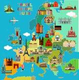 Europa loppöversikt Royaltyfri Foto