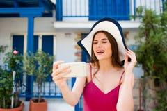 Europa lopp som tar en selfie royaltyfri bild