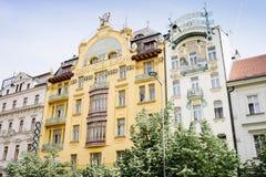 Europa magnífico del hotel en Wenceslas Square Imagen de archivo libre de regalías