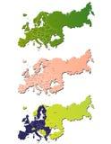 Europa mapa Obraz Stock