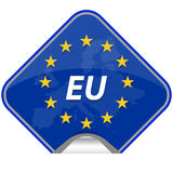 Europa mapa spajający kraj Zdjęcie Stock