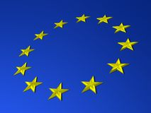 Europa-Markierungsfahne Stockfotografie