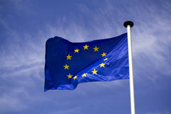 Europa-Markierungsfahne Stockfotos