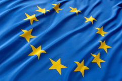 Europa-Markierungsfahne Lizenzfreies Stockbild