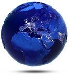 Europa, Mittlere Osten und Afrika stock abbildung