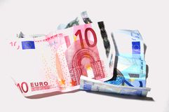 Europa money euro crisis savings bankary risk Royalty Free Stock Photos
