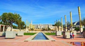 Europa Montjuic Barcelone de ` de Plaça d Photo libre de droits