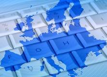 Europa nätverk arkivbild