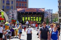 ` Europa na rozwidlenia ` wydarzeniu, Wrocławskim, Polska Zdjęcia Royalty Free