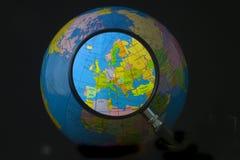 Europa in nadruk Stock Afbeelding