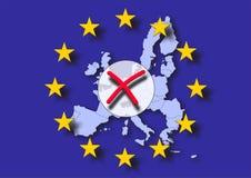 Europa negativ röstning stock illustrationer