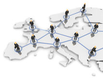 Europa-Netz Lizenzfreies Stockbild