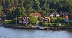 Europa norr liten stad Royaltyfri Foto